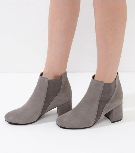 Grey Suede Chelsea Boots | New Look