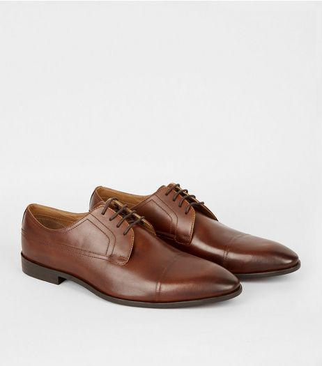 Tan Leather Gibson Shoes | New Look