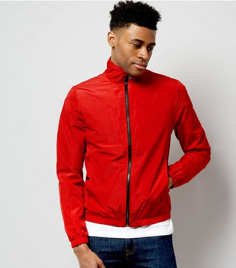 Red Funnel Neck Track Top | New Look