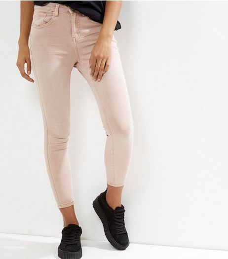 Petite Shell Pink Skinny Jeans | New Look