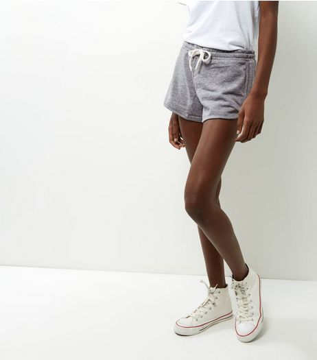 Grey Tie Waist Running Shorts  | New Look