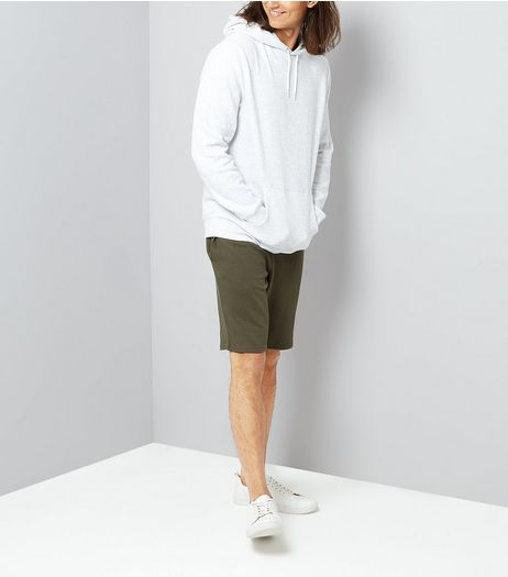 Khaki Jersey Shorts | New Look