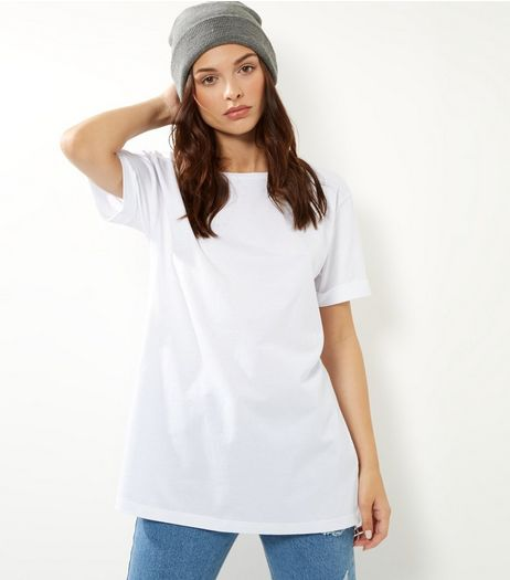 Tall White Boyfriend T-Shirt | New Look