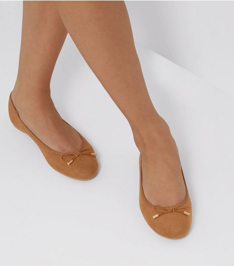 Tan Suedette Ballet Pumps | New Look