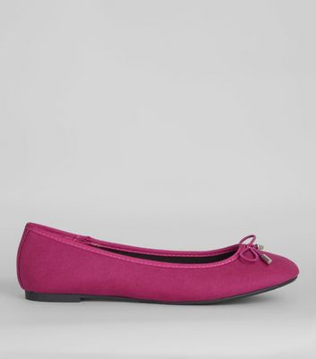 Bright Pink Ballet Pumps  | New Look