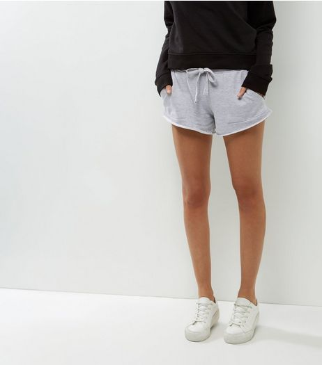 Grey Double Pocket Sides Mini Sports Shorts | New Look