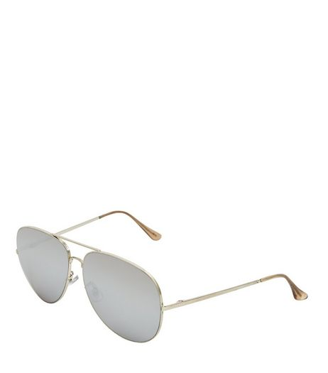 Silver Pilot Sunglasses | New Look