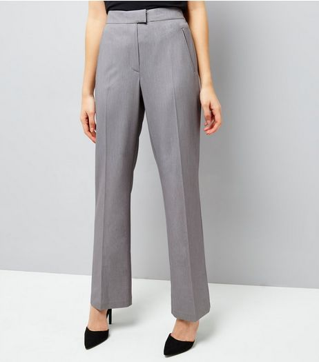 Grey Bootcut Trousers  | New Look