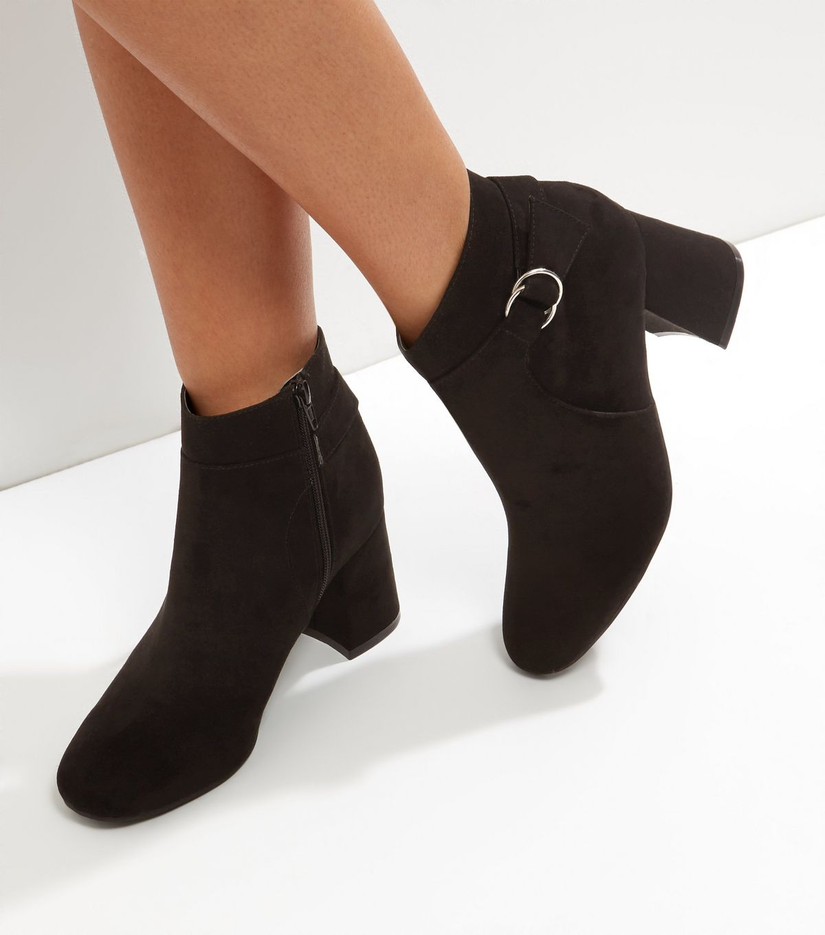 Black Suedette Ankle Boots | New Look