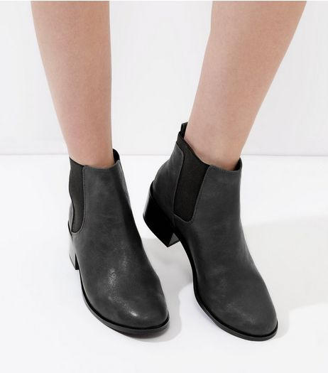 Dark Grey Comfort Chelsea Boots | New Look