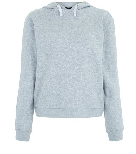 Teens Grey Long Sleeve Hoodie | New Look