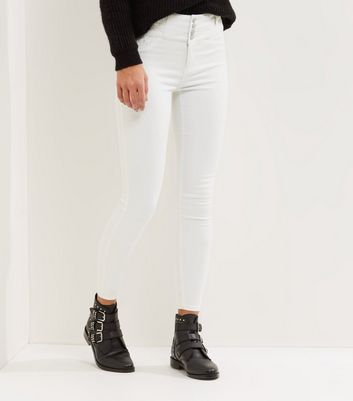 White High Waist Skinny Yazmin Jeans