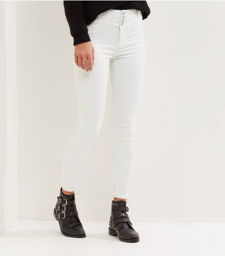 White High Waist Skinny Jeans | New Look