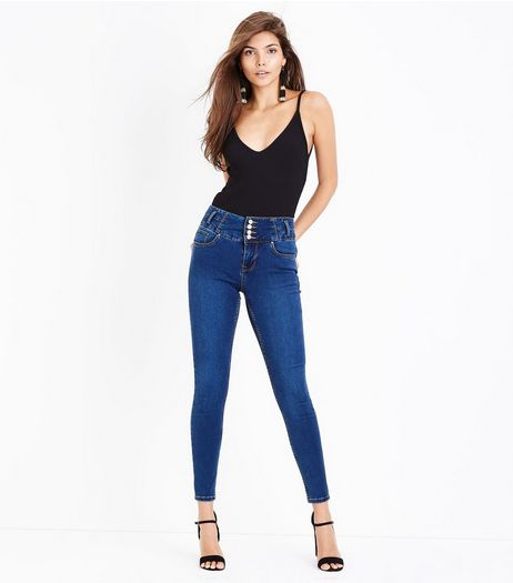 Blue High Waisted Skinny Jeans | New Look