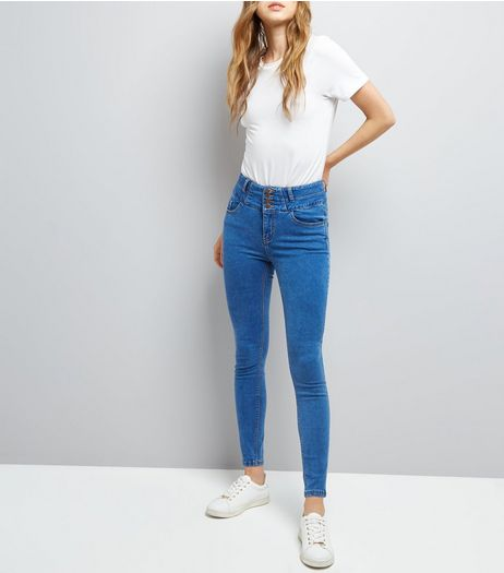 Blue High Waist Skinny Jeans | New Look