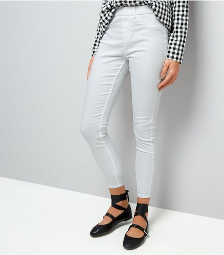 White High Waist Emilee Jeggings  | New Look