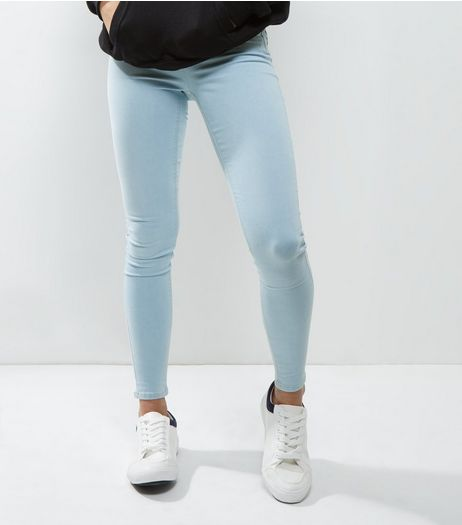 Blue Skinny Jeggings | New Look