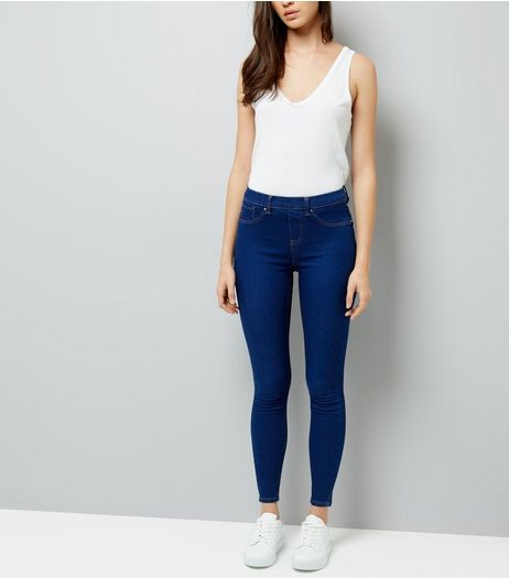 Blue Emilee Jeggings  | New Look
