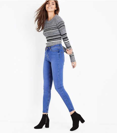 Blue Super Soft Super Skinny India Jeans  | New Look