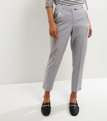 Grey Slim Leg Trousers