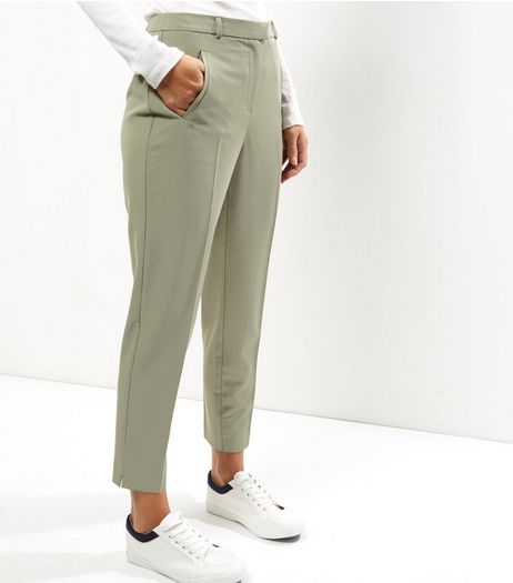 Khaki Slim Leg Trousers  | New Look