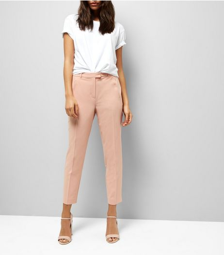Orange Slim Leg Trousers  | New Look