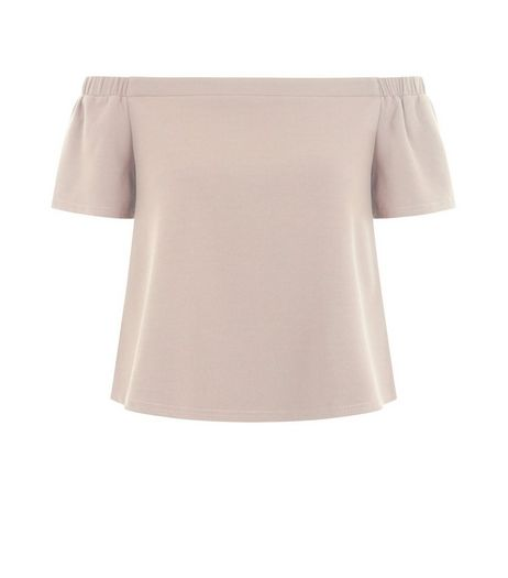 Teens Shell Pink Bardot Neck Top | New Look
