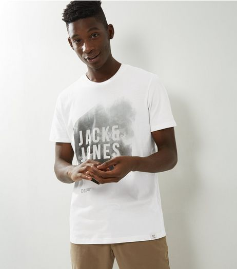 Jack & Jones White Cloud Print T-Shirt | New Look