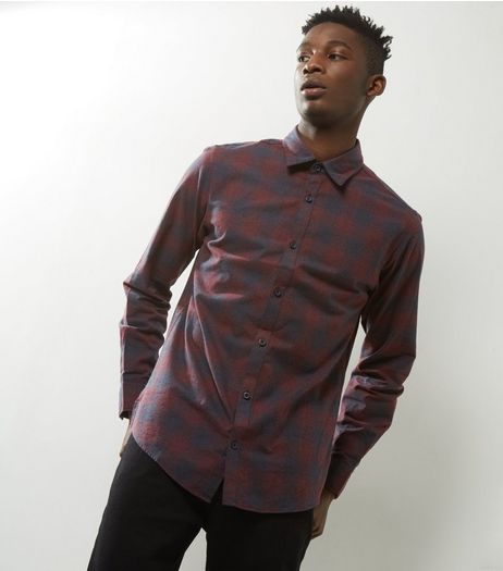 Jack & Jones Red Check Long Sleeve Shirt | New Look