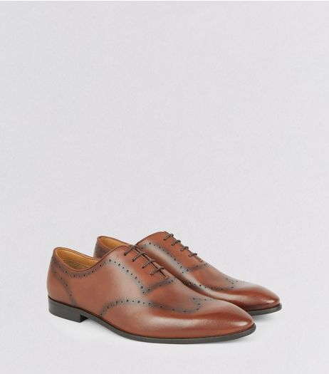 Brown Leather Brogues | New Look