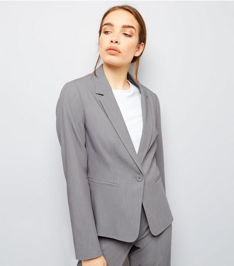 Pale Grey Suit Jacket  | New Look