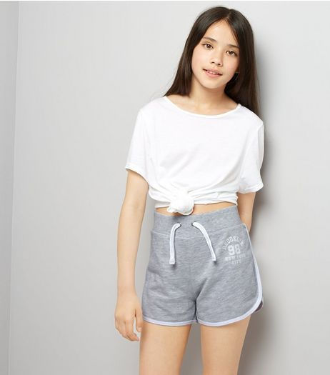 Teens Grey Brooklyn 98 Print Shorts | New Look