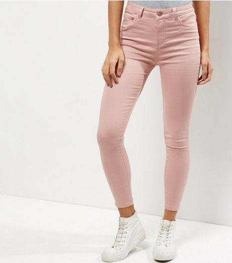Shell Pink Ankle Grazer Skinny Jeans  | New Look