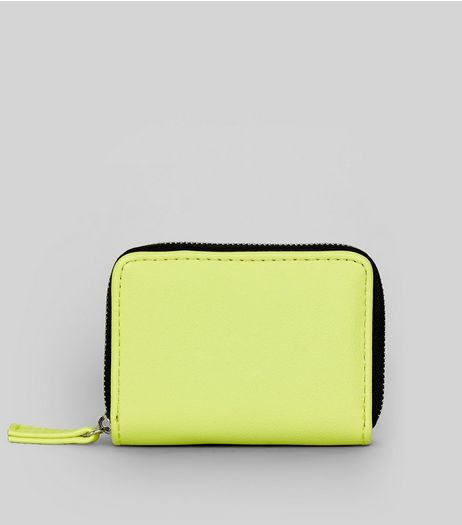 Yellow Zip Around Cardholder | New Look