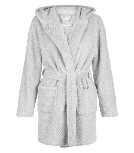 Teens Grey Textured Robe | New Look