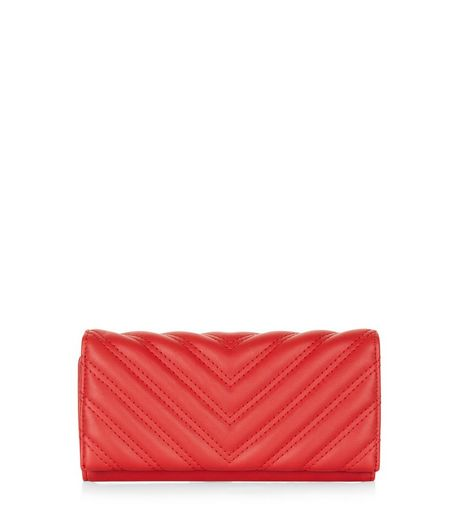 Red Quilted Purse | New Look