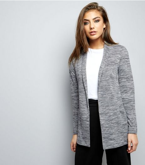 Grey Marl Ponte Blazer  | New Look