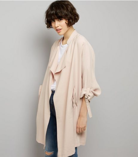 Pink Waterfall Duster Jacket | New Look