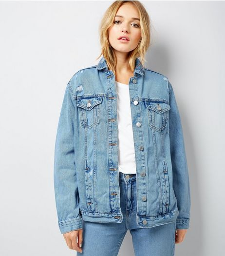 Light Blue Oversized Denim Jacket | New Look