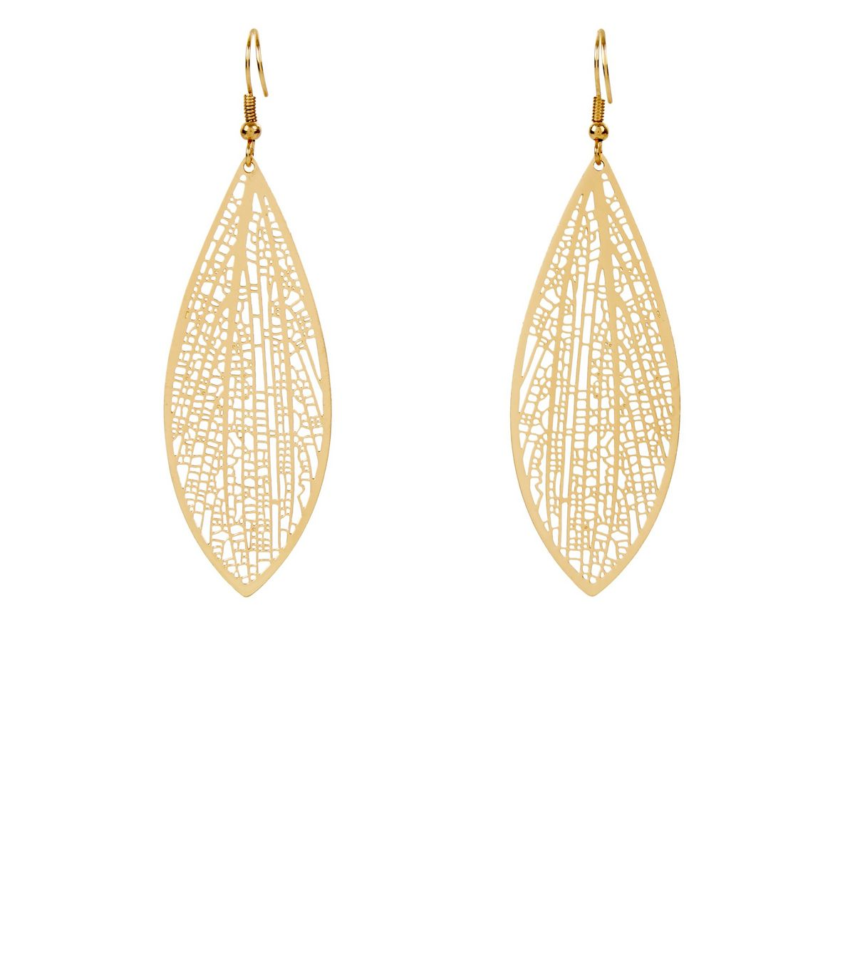 Gold Skeleton Leaf Earrings | New Look