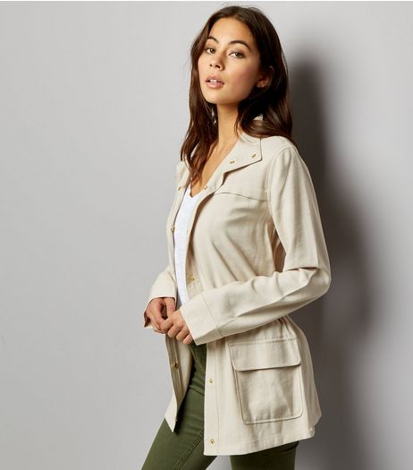 Stone Drape Shacket  | New Look