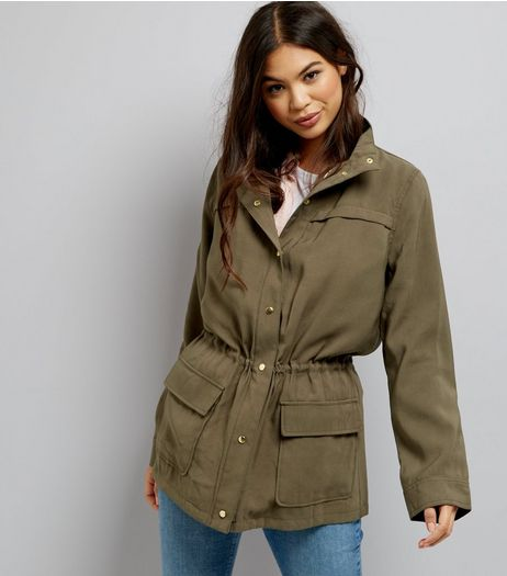 Khaki Drape Shacket | New Look