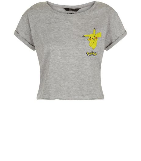 Teens Grey Pokemon Cropped T-Shirt | New Look