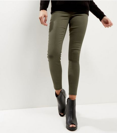 Khaki Emilee Jeggings  | New Look