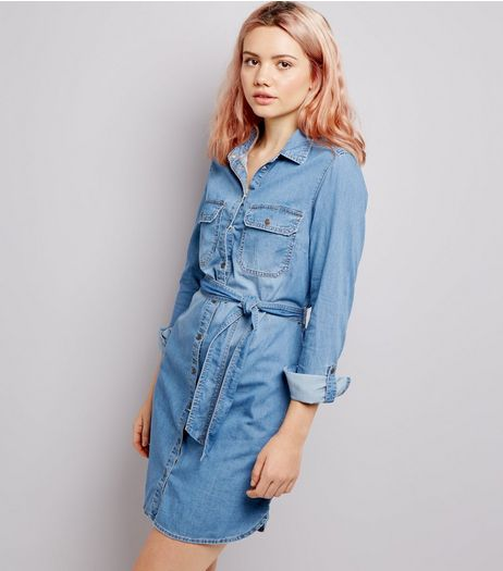 Blue Denim Shirt Dress | New Look