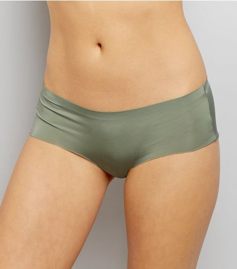 Khaki Seamless Briefs | New Look