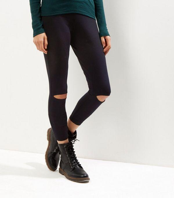 Black Ripped Knee Leggings