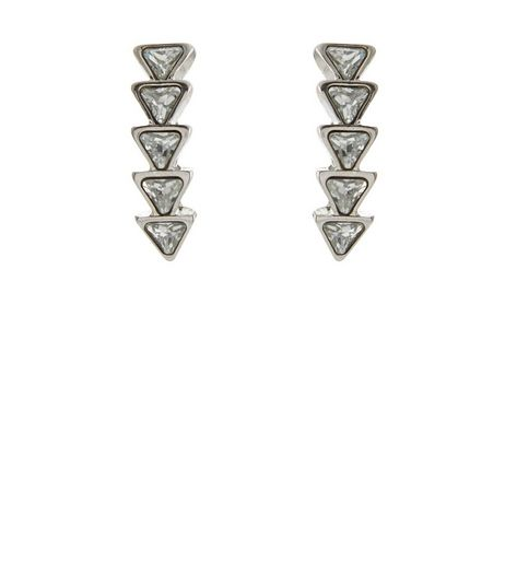 Silver Arrow Drop Earrings | New Look