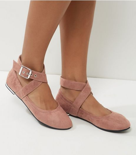 Nude Elasticated Cross Strap Pumps | New Look