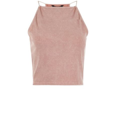 Teens Pink Acid Wash Cami Top | New Look